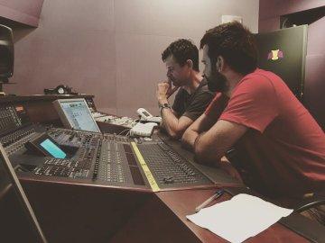 Con Carlos Estella, mezclando BSO CLEAE